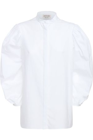 Alexander McQueen Cotton Poplin Shirt W/ Puff Sleeves