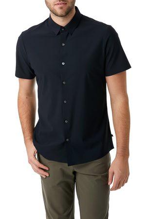 7 Diamonds Men's American Me Slim Fit Short Sleeve Button-Up Performance Shirt