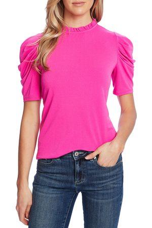 CE&CE Women's Puff Sleeve Crepe Top
