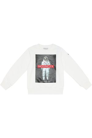 Moncler Printed cotton fleece sweatshirt