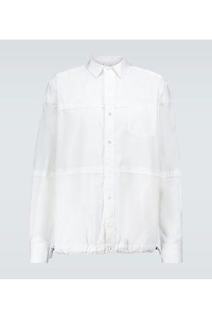 SACAI Long-sleeved drawstring shirt