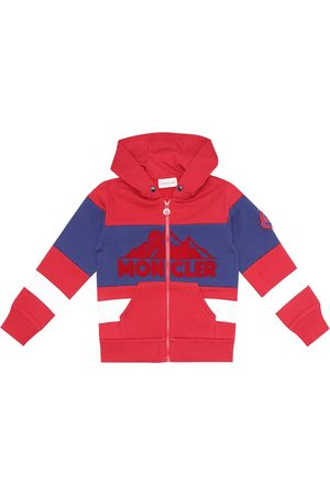 Moncler Logo cotton fleece hoodie