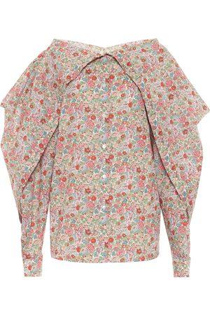 Y / PROJECT Floral cotton blouse