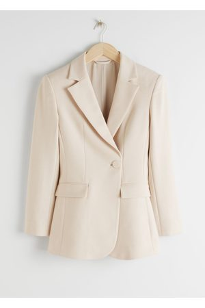 & OTHER STORIES Asymmetric Structured Single Breasted Blazer