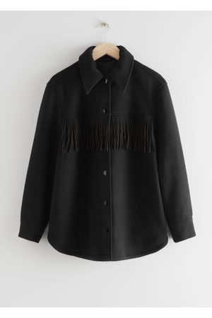 & OTHER STORIES Relaxed Button Up Fringe Jacket