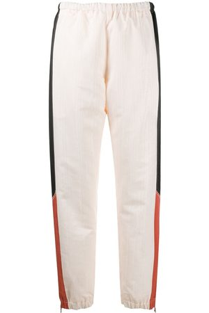 Marine Serre Contrast panel cuffed trousers - Neutrals