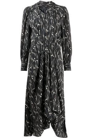 Isabel Marant Women Printed Dresses - Print silk midi dress