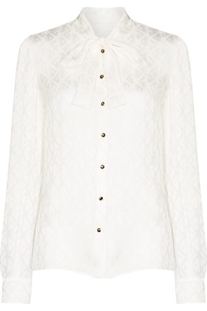 Dolce & Gabbana Pussy-bow buttoned blouse