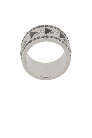 Karl Lagerfeld Crystal-embellished band ring