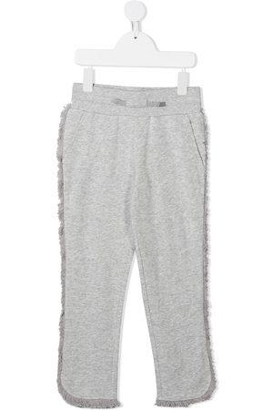 Stella McCartney Fringed jersey sweatpants - Grey