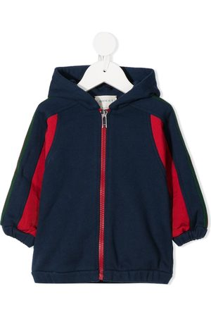 Gucci Web-stripe zip-front hooded jacket
