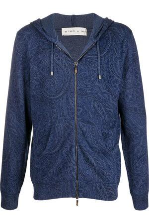 Etro Men Hoodies - Paisley-print zipped hoodie