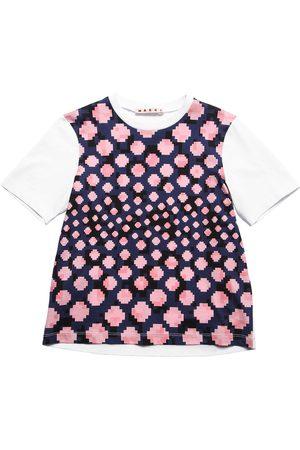 Marni Pixel Print Cotton Jersey T-shirt