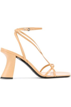By Far Curved heel sandals - Neutrals