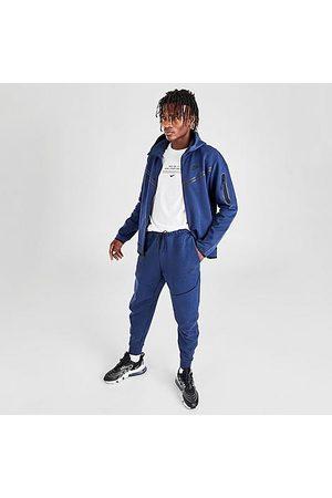 Nike Men Sweatpants - Tech Fleece Taped Jogger Pants in /Midnight Navy Size Small Cotton/Polyester/Fleece