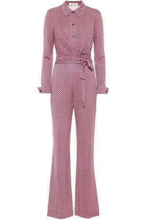 Diane von Furstenberg Women Jumpsuits - Michele printed silk jersey jumpsuit