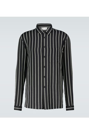 Saint Laurent Men Business - Striped silk-blend shirt