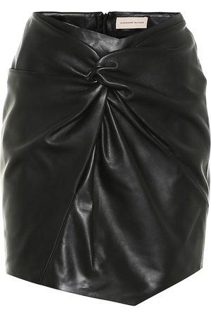 ALEXANDRE VAUTHIER Gathered leather miniskirt