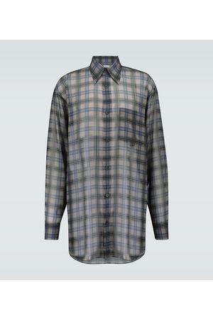 DRIES VAN NOTEN Men Long sleeves - Long-length checked shirt
