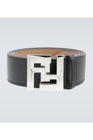 Fendi Leather FF buckle belt