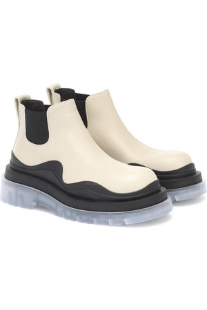 Bottega Veneta BV Tire leather ankle boots