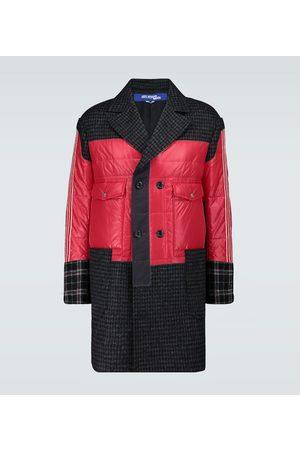 JUNYA WATANABE Nylon and wool patchwork coat