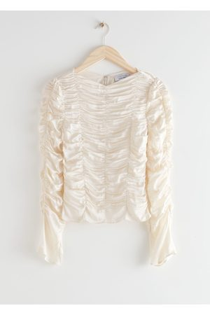 & OTHER STORIES Gathered Long Sleeve Top