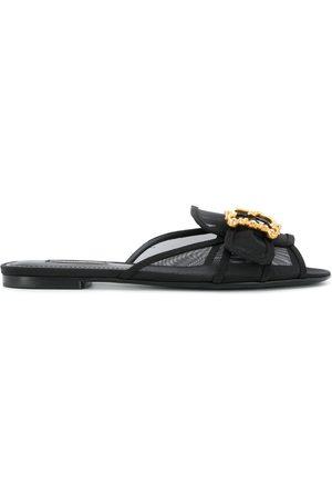 Dolce & Gabbana Bianca baroque logo mules sandals