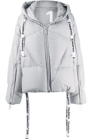 Khrisjoy Oversized hooded puffer jacket - Grey