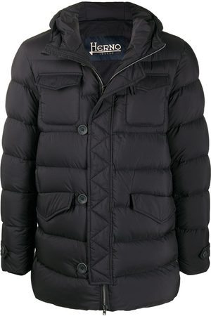 HERNO Men Puffer Jackets - Puffer jacket with button detail