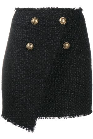 Balmain Double-button mini skirt