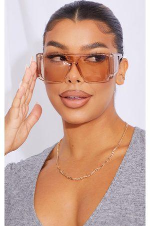 PRETTYLITTLETHING Oversized Triple Lens Squareframe Sunglasses