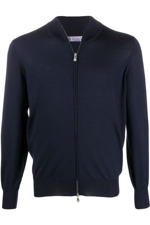 Brunello Cucinelli Men Turtlenecks - High-neck zip-through sweater