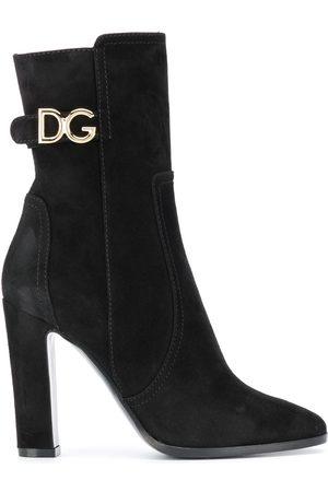 Dolce & Gabbana Caroline logo-plaque boots