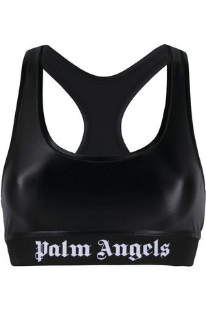 Palm Angels Logo print detail sports bra