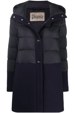 HERNO Women Puffer Jackets - Panelled padded coat