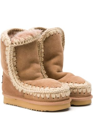 Mou Shearling snow boots - Neutrals