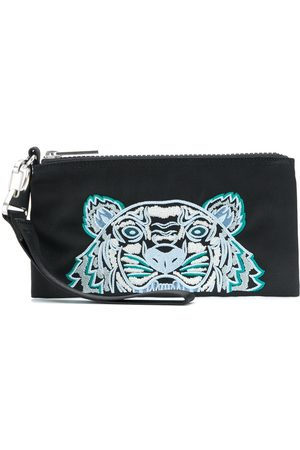 Kenzo Embroidered Tiger motif pouch