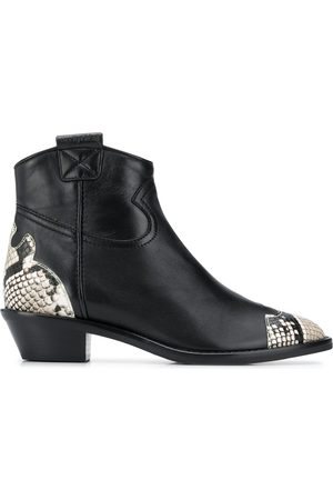 See by Chloé Snake effect leather ankle boots