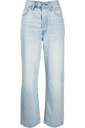 Levi's Women High Waisted - Ribcage high-rise straight jeans