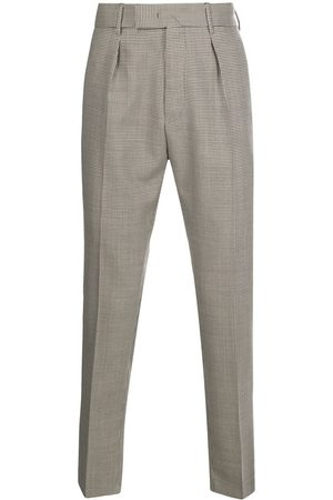 PT01 Checked straight trousers - Neutrals