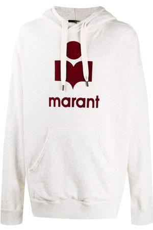 Isabel Marant Logo print hoodie - Neutrals