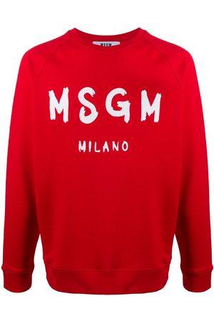 Msgm Logo print crew neck sweatshirt