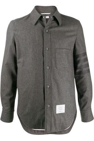 Thom Browne Flannel tonal 4-Bar shirt jacket - Grey