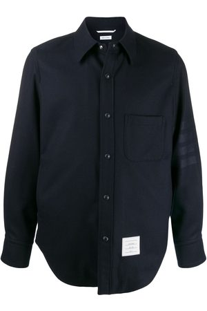 Thom Browne Flannel tonal 4-Bar shirt jacket