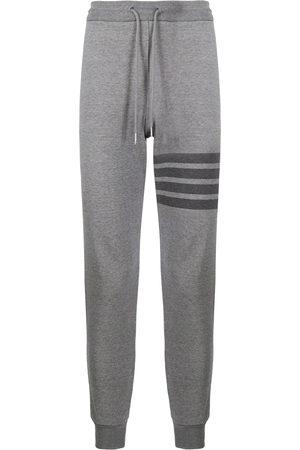 Thom Browne Striped cotton sweatpants - Grey