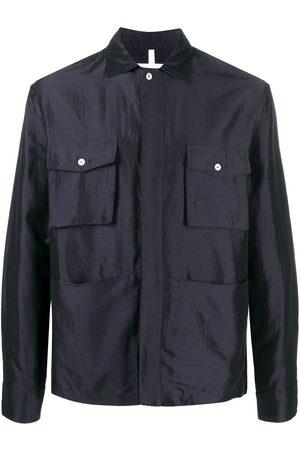 Soulland Tag linen-rayon blend shirt