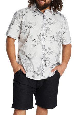 Johnny Bigg Men's Big & Tall Johnnie Big Ritchie Floral Short Sleeve Stretch Button-Up Shirt