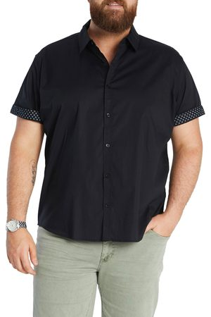 Johnny Bigg Men Short sleeves - Men's Big & Tall Bennett Short Sleeve Stretch Button-Up Shirt