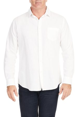 Johnny Bigg Men's Big & Tall Anders Relaxed Fit Button-Up Linen & Cotton Shirt